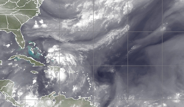 A tropical system expected to form off the Dominican Republican. (Credit: CIMSS/ University of Wisconsin)