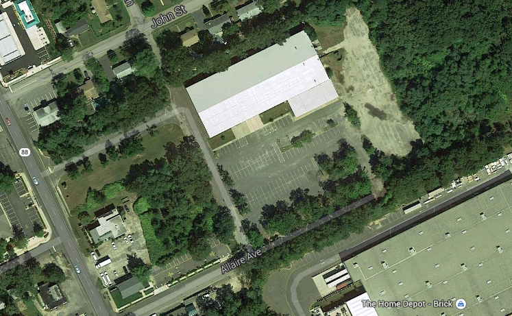 The former Branch Brook Pools building off Route 88 in Brick. (Credit: Google Maps)