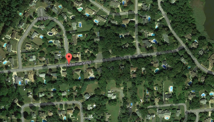 A map of the Woodland Valley neighborhood of Brick. (Credit: Google Maps)