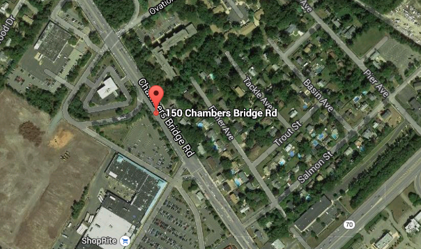 The site of a Bank of America branch in Brick where a pedestrian was struck. (Credit: Google Maps)