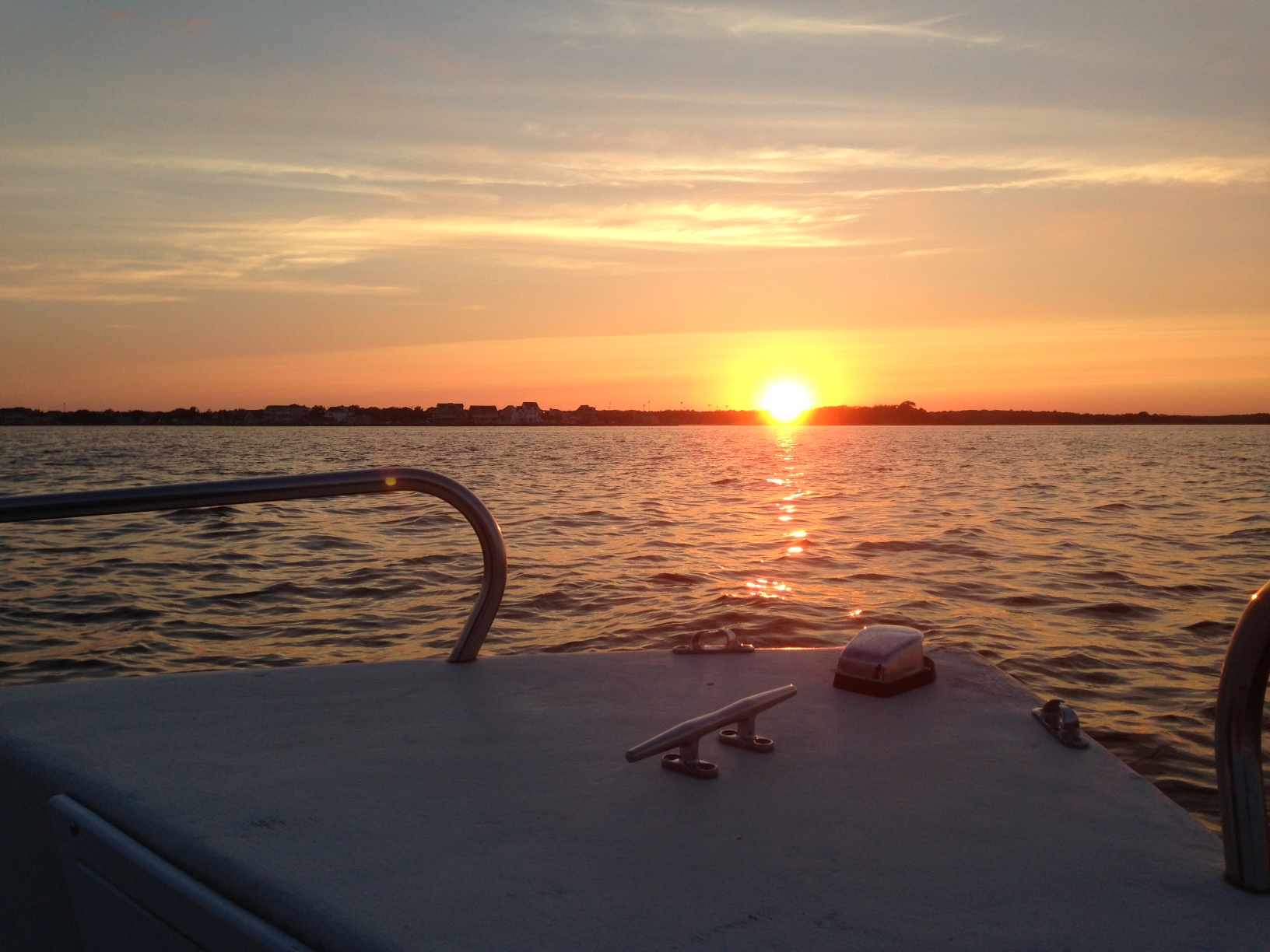 The sun sets over Barnegat Bay in Brick, N.J. (Photo: Daniel Nee)
