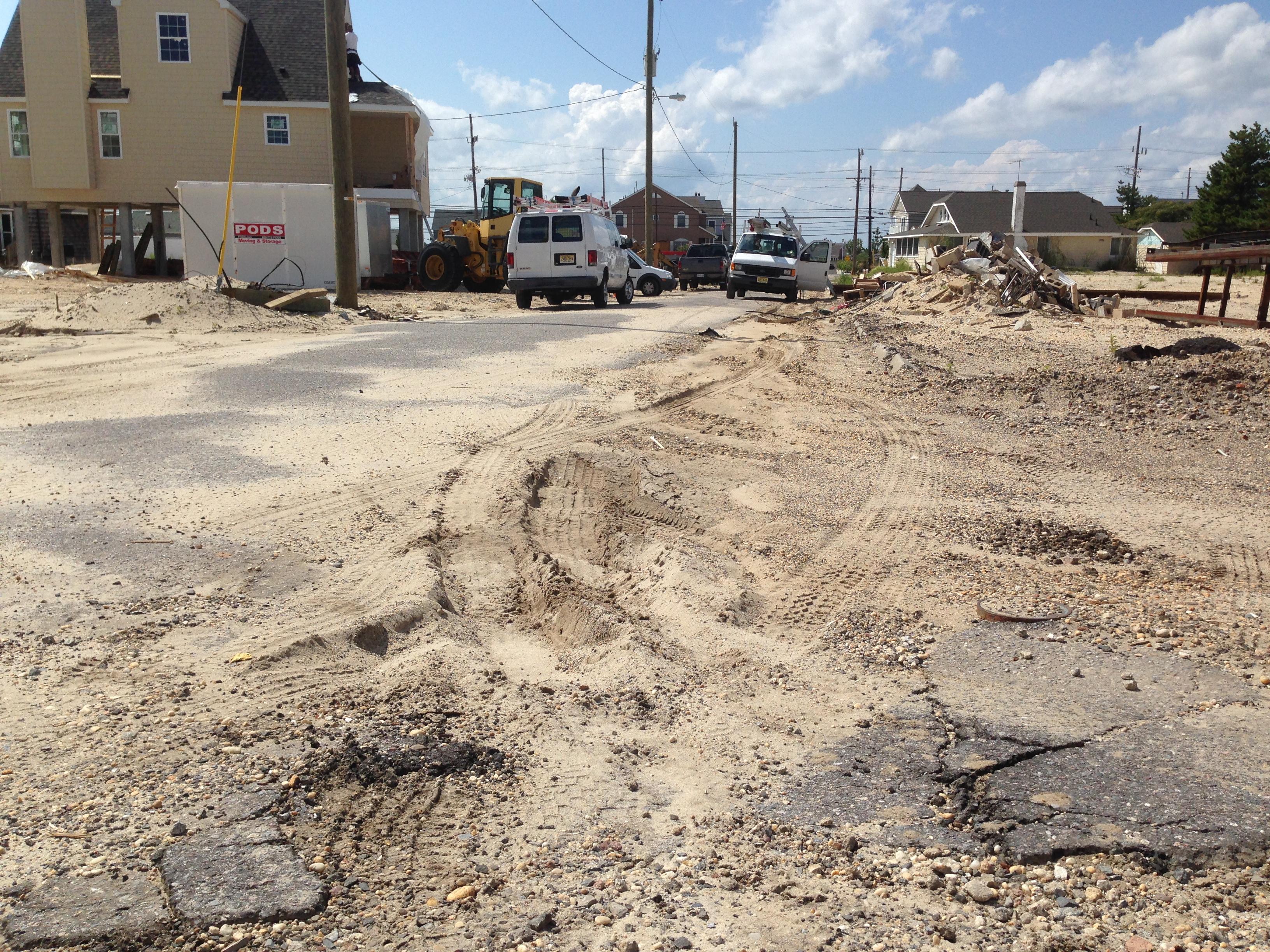 Jeanette Drive in Brick, N.J., being rebuilt after enduring damage during Superstorm Sandy. (Photo: Daniel Nee)