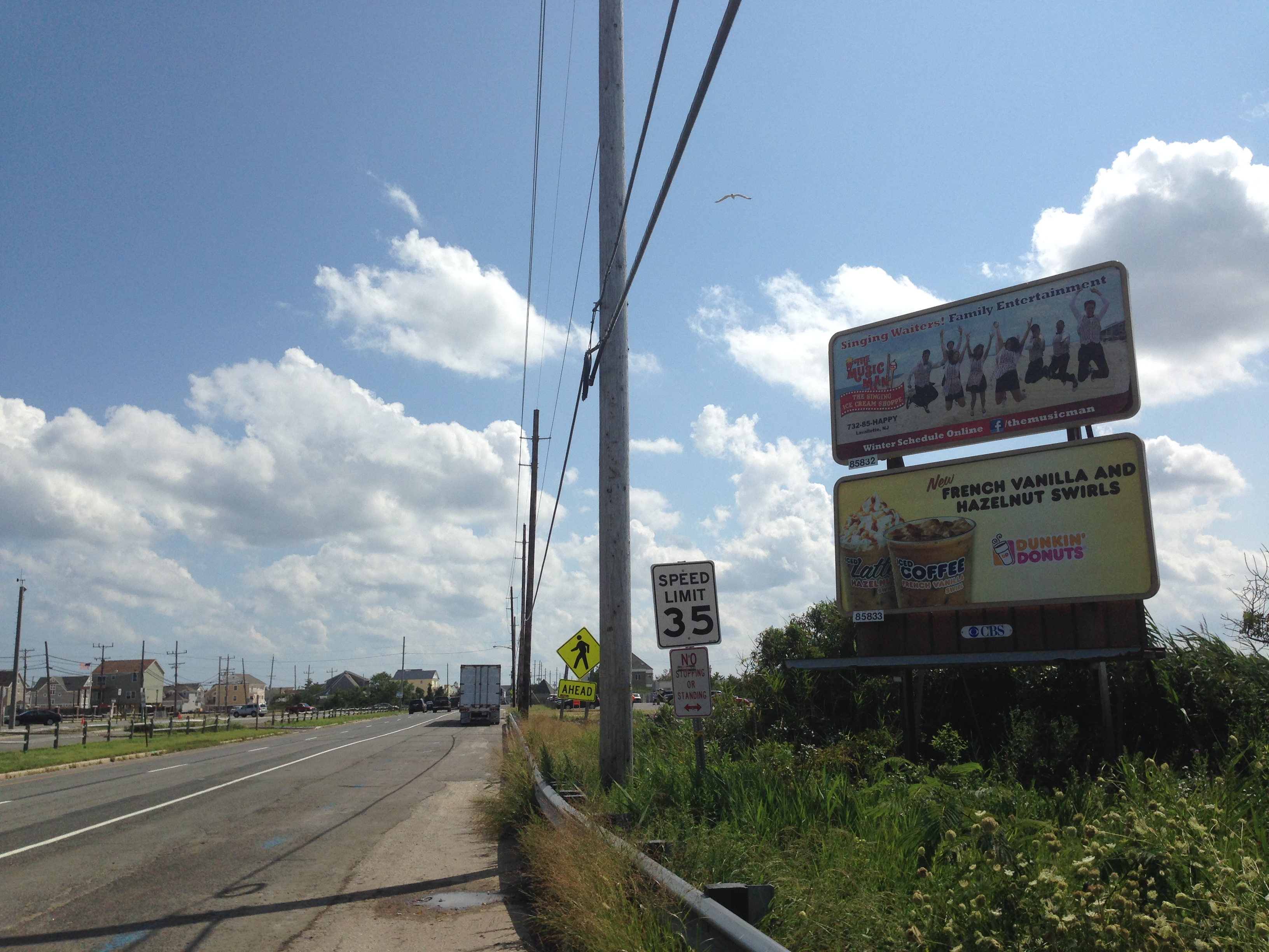 A billboard on Route 35 in Brick may not be there for long, the township's mayor says. (Photo: Daniel Nee)