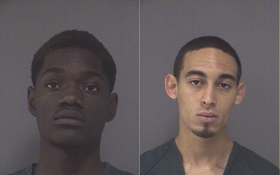 Dahkimalik Farod Short (left) and David Jesus Hale Jr., arrested in a slew of vehicle burglaries in Brick, N.J. (Photo: Ocean County Jail)