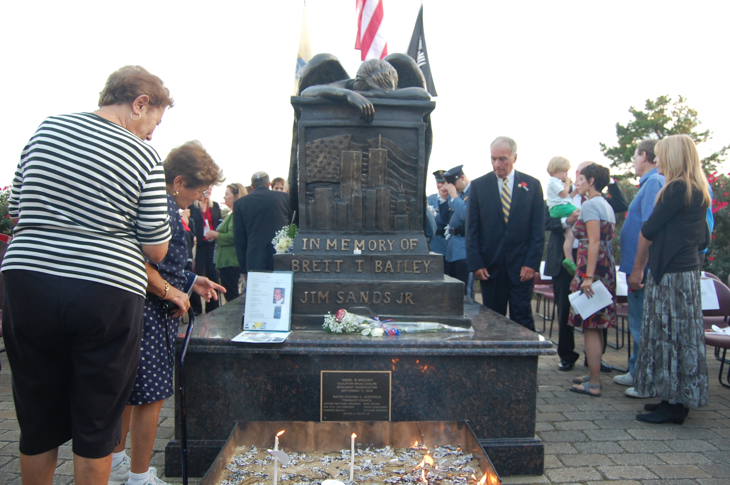 Brick Township's Sept. 11 commemoration ceremony, 2014. (Photo: Daniel Nee)