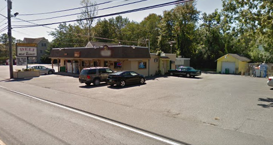Herbertsville Deli, with a propane filling station near the side parking lot. (Photo: Google Earth)