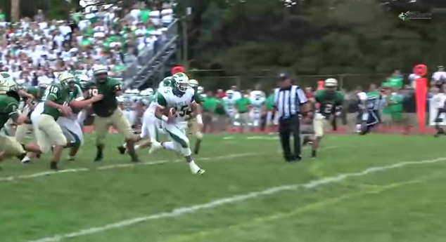 Carmen Sclafani 21 yard touchdown run. (Photo: YouTube)