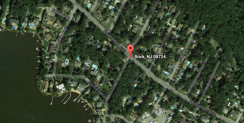 Princeton Avenue and Fairview Avenue in Brick, N.J. (Credit: Google Maps)