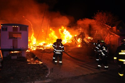 643The home at 634 Bayview Drive in Toms River burns down during a suspected arson. (Photo: TRPD)