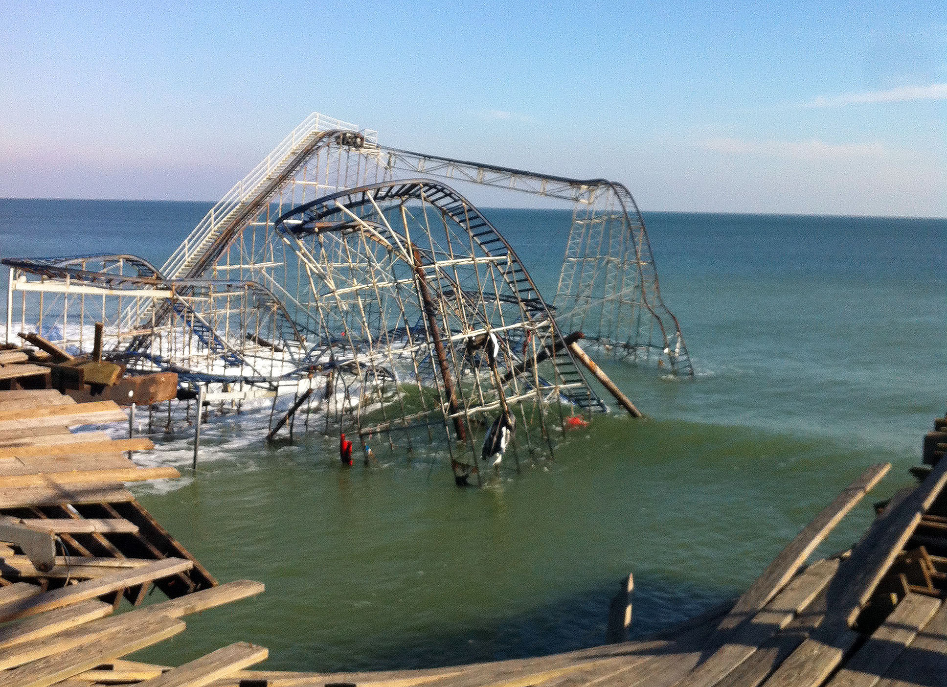 The Jet-Star roller coaster in Seaside Heights, which fell into the ocean during Superstorm Sandy. (Photo: Daniel Nee)