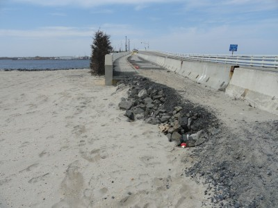 The area of the Mantoloking Bridge where repairs are needed following Superstorm Sandy. (Photo: Ocean County Engineering Dept.)