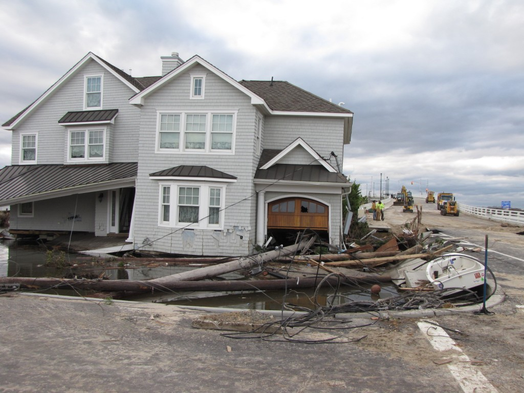 A Brick Township home destroyed during Superstorm Sandy. (Photo: Daniel Nee)