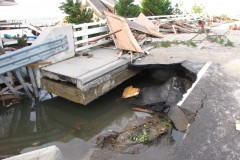 The Mantoloking Bridge in the days following Superstorm Sandy. (Photo: Ocean County Engineering Dept.)