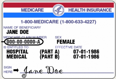 A sample Medicare card. (Photo: Medicare.gov)
