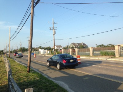 Route 35 near Brick Beach 3, Sept. 2, 2014. (Photo: Daniel Nee)