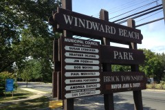 The entrance to Windward Beach Park in Brick. (Photo: Daniel Nee)