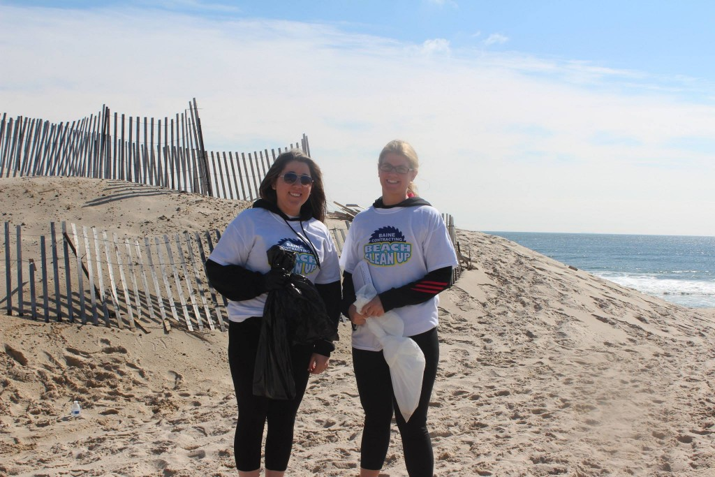 A beach clenaup in April 2014 on Brick Beach I. (Photo: Baine Contracting)