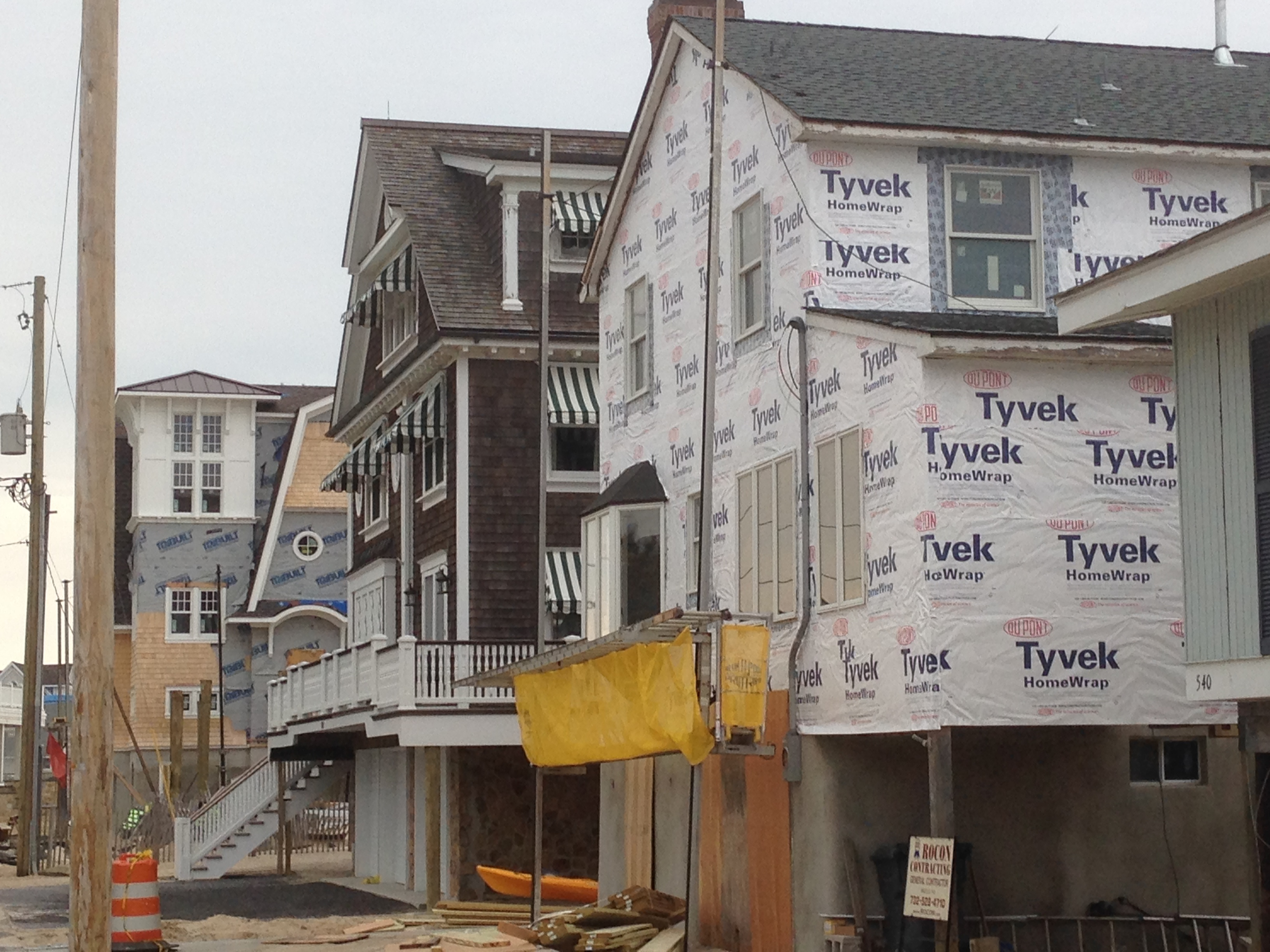 Homes being rebuilt in the Normandy Beach section of Brick Township. (Photo: Daniel Nee)