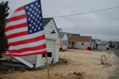 An American flag outside a home in Shore Acres, Brick, N.J., 2012 (Photo: Daniel Nee)