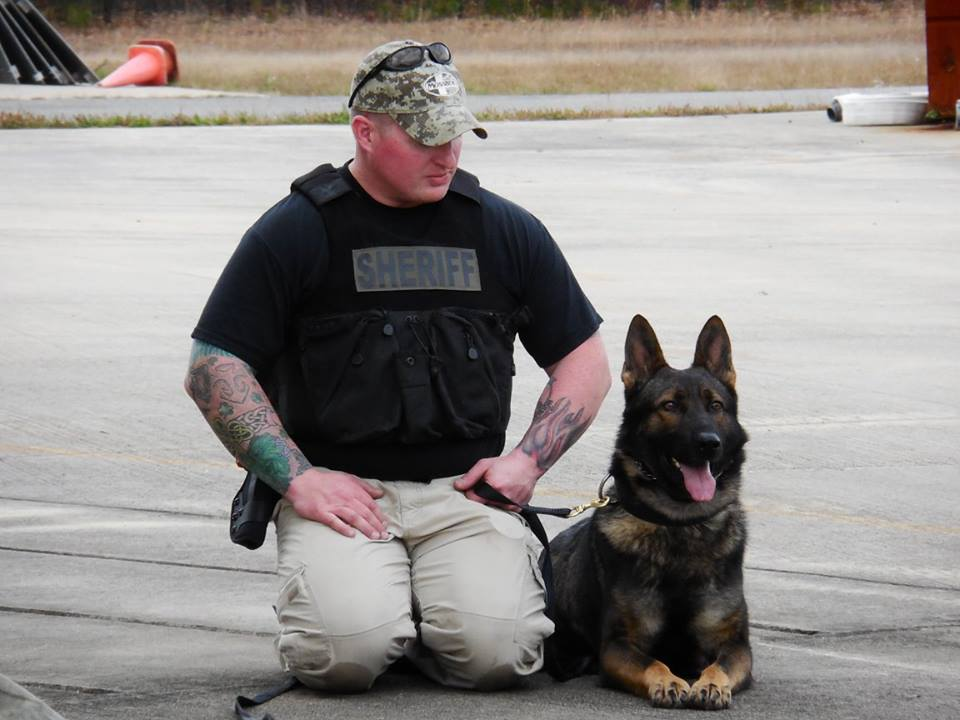 Sgt. Adams and Ugo (Photo: OCSD)