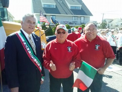 Ocean County Freeholder Joe Vicari (left) at the 2014 Columbus Day Parade in Seaside Heights. (File Photo)