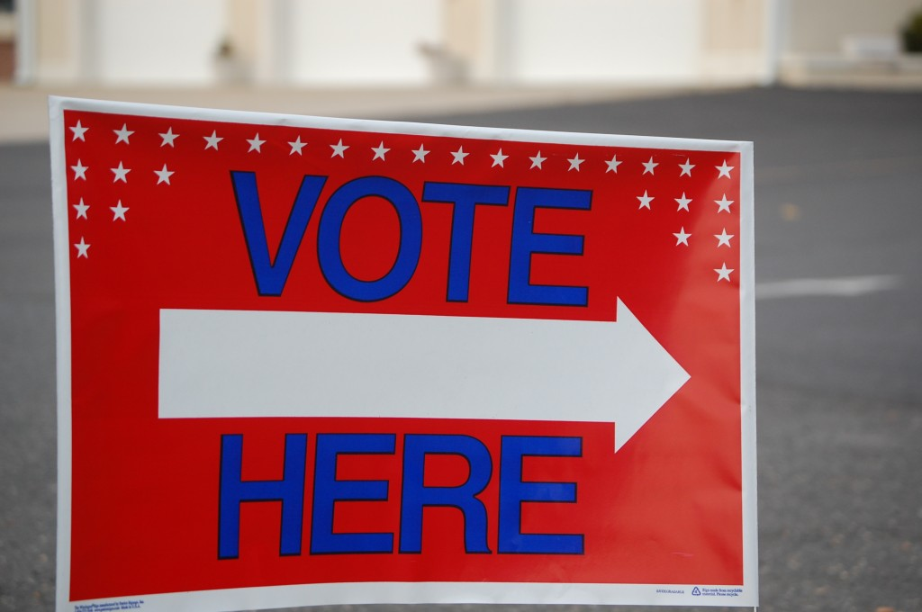 The Herbertsville Fire House polling place in Brick, N.J. (Photo: Daniel Nee)