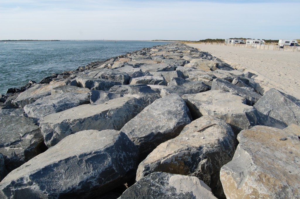 The north jetty of Barnegat Inlet at Island Beach State Park. (Photo: Daniel Nee)