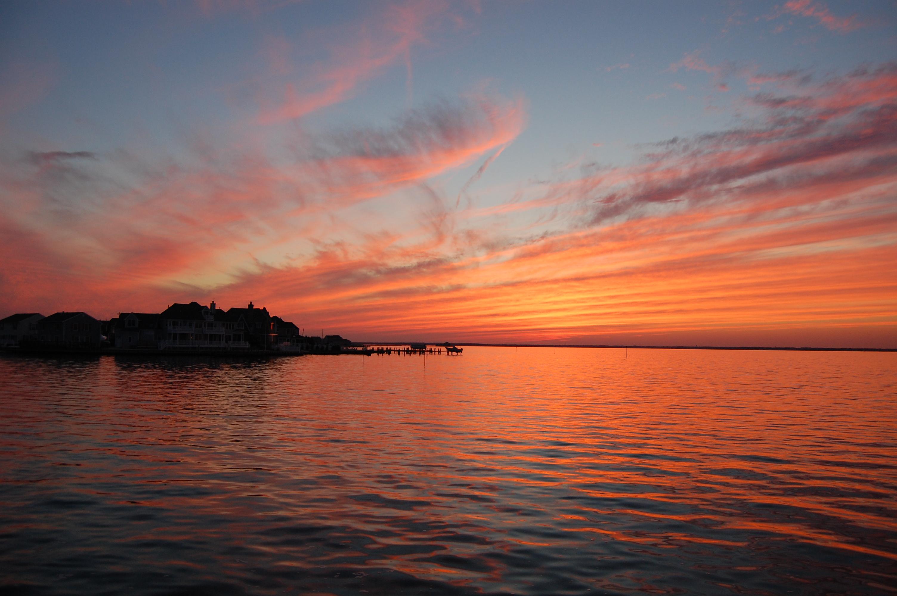 The Nov. 9, 2014 sunset over Barnegat Bay in Brick, N.J. (Photo: Daniel Nee)