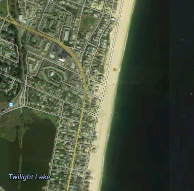 Construction will affect the area of Route 35 near the Point Pleasant Beach-Bay Head border. (Credit: Google Maps)
