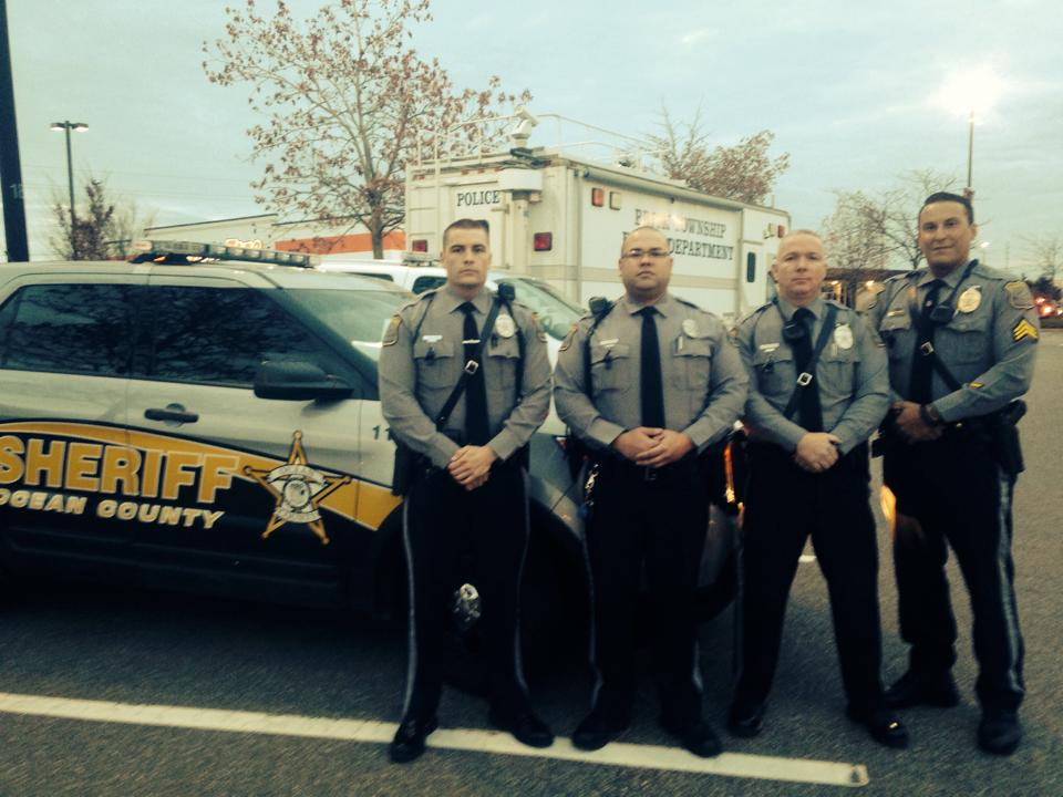 Ocean County Sheriff's officers at Brick Plaza. (Photo: OCSD)