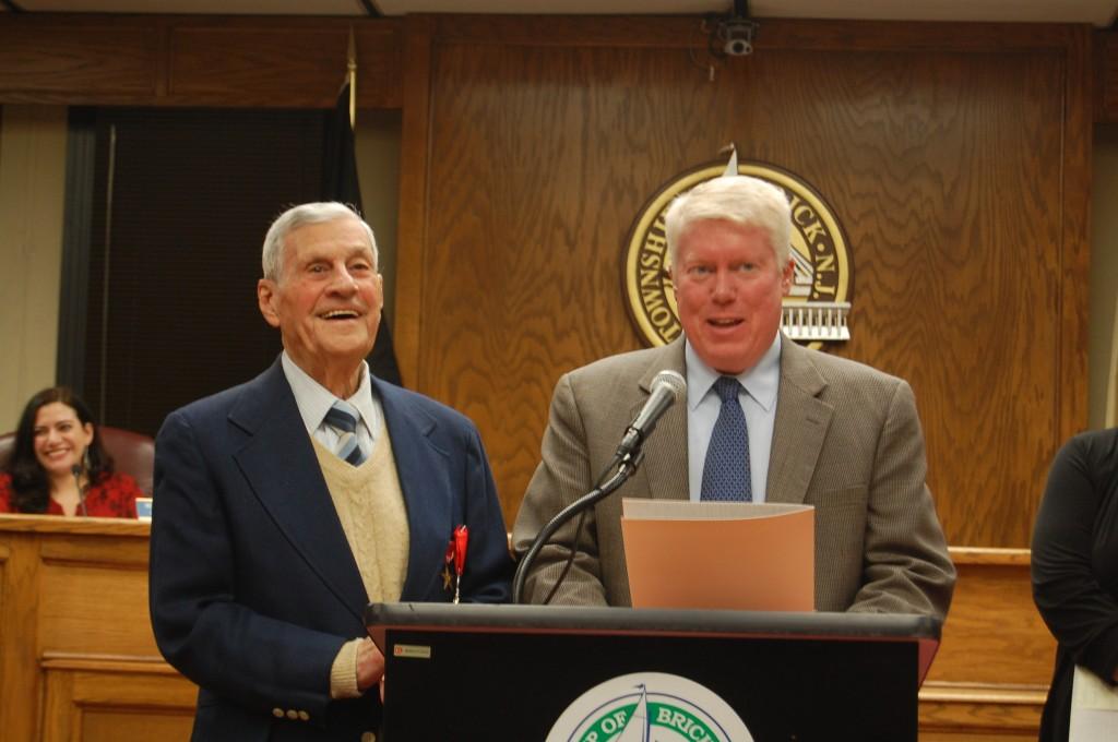 "Joseph ""Bob"" Pocoroba and Mayor John Ducey (Photo: Daniel Nee)"