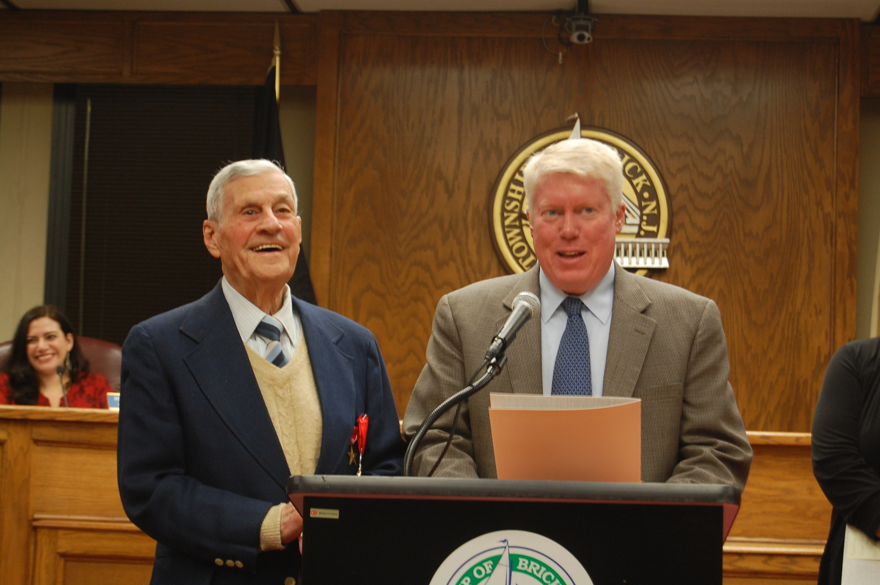 "Joseph ""Bob"" Pocoroba and Mayor John Ducey (Photo: Daniel Nee)"