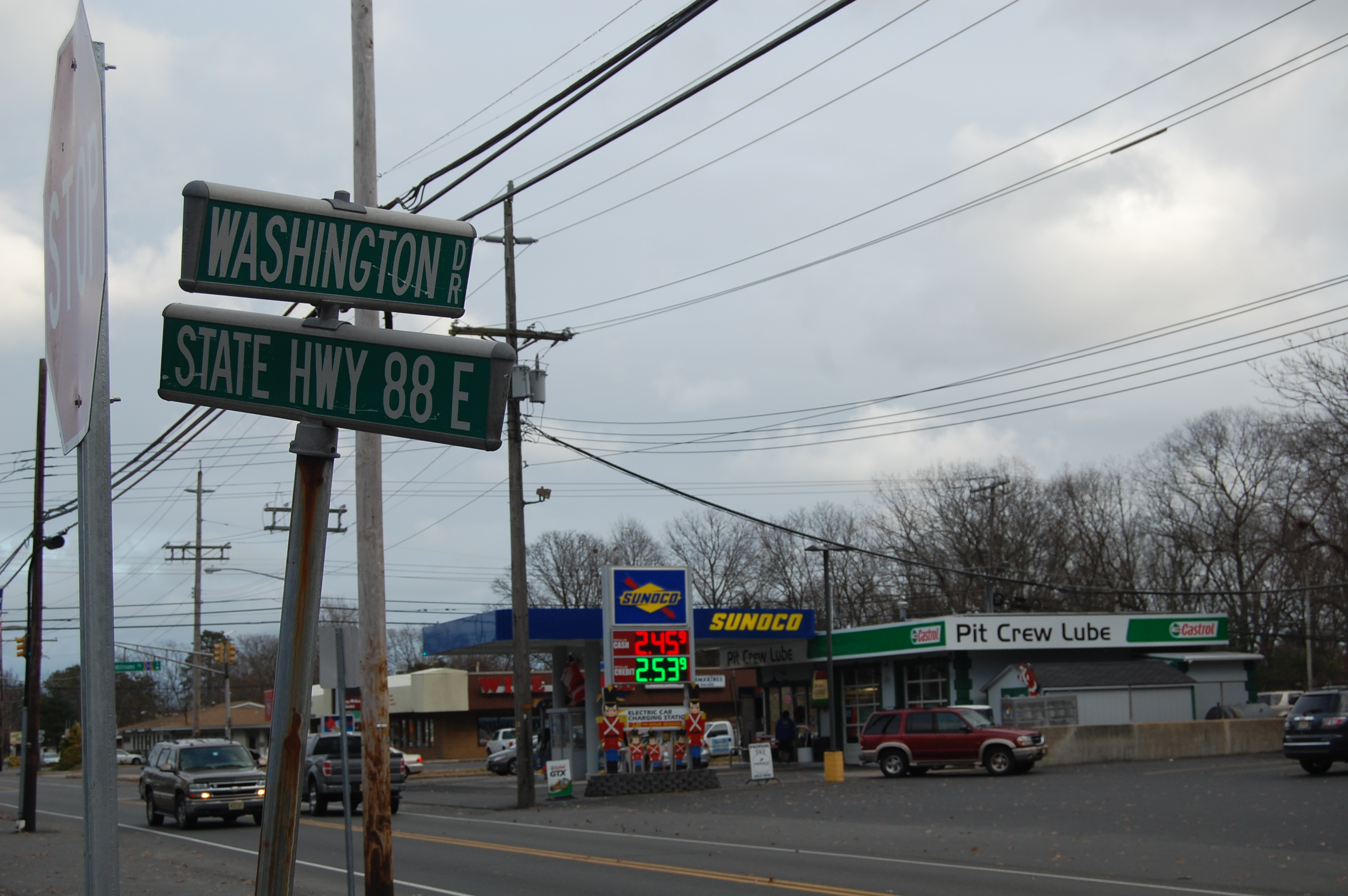 No left turns onto Route 88 will be permitted from two streets in town under a new ordinance. (Photo: Daniel Nee)