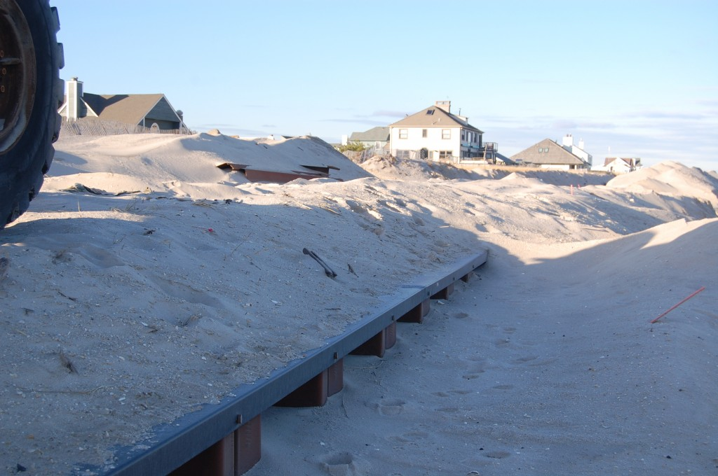 Beach erosion in Brick Township, N.J. following the Dec. 10, 2014 nor'easter. (Photo: Daniel Nee)