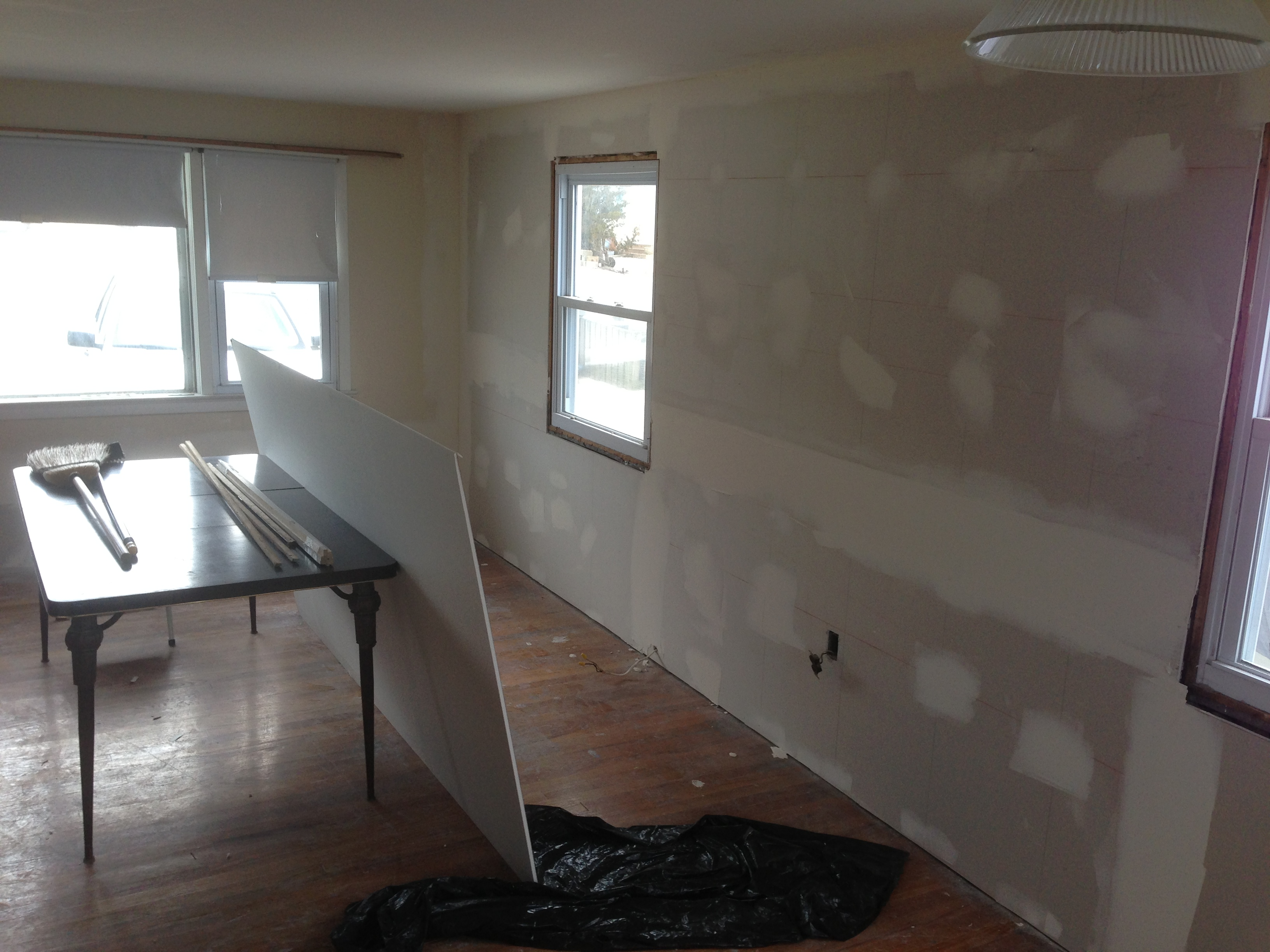 The interior of a home damaged by Superstorm Sandy. (Photo: Daniel Nee)