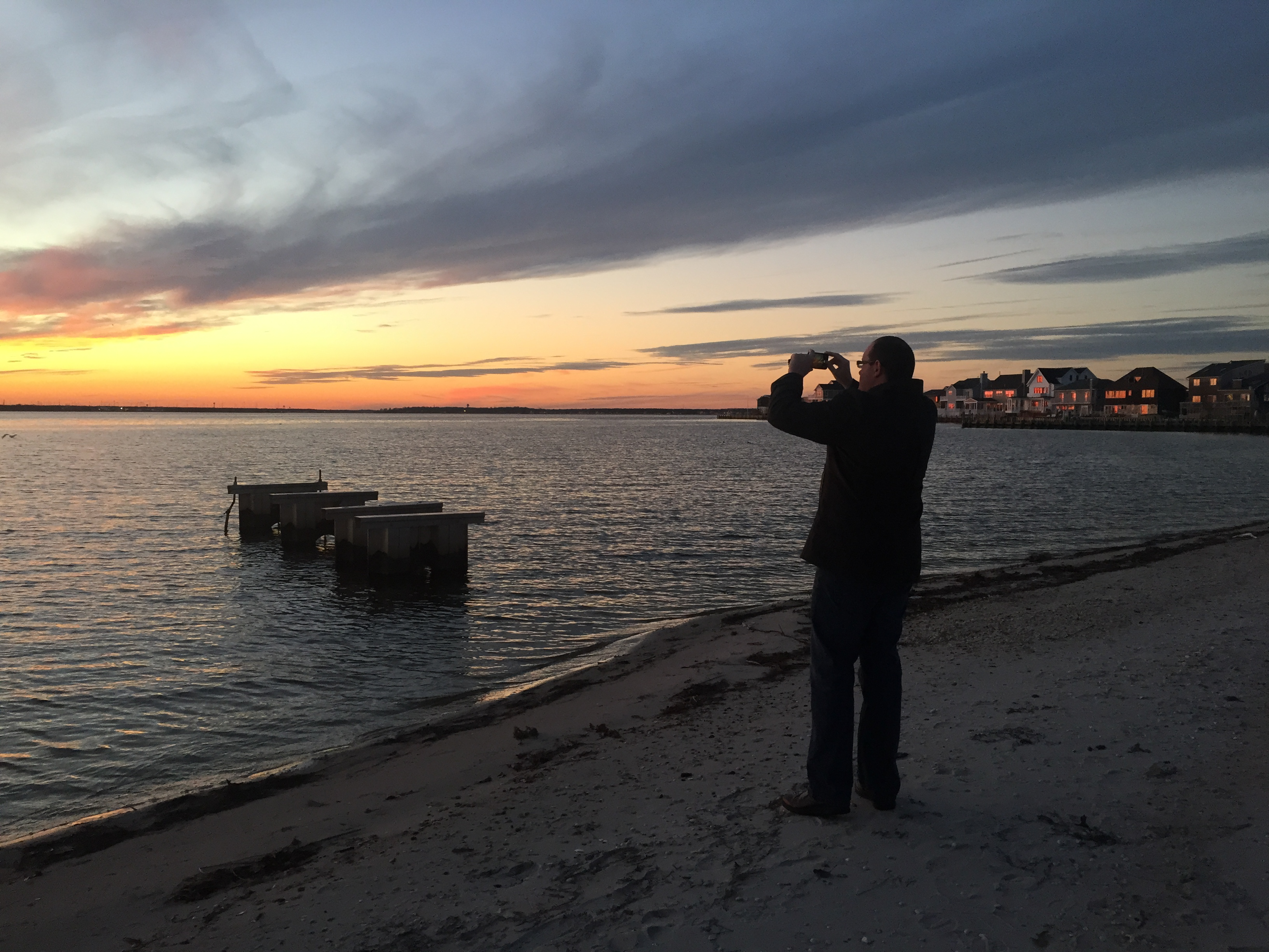 A december sunset to remember over barnegat bay brick for Barnegat inlet fishing report