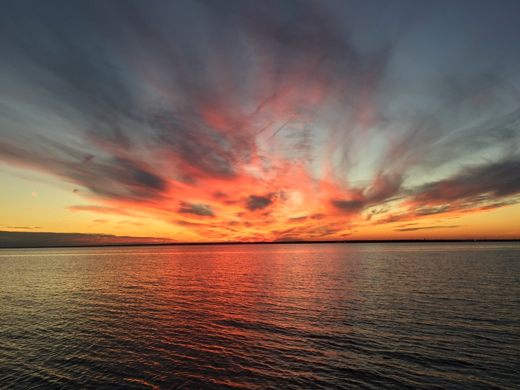 Sunset over Barnegat Bay, Dec. 29, 2014. (Photo: Daniel Nee)