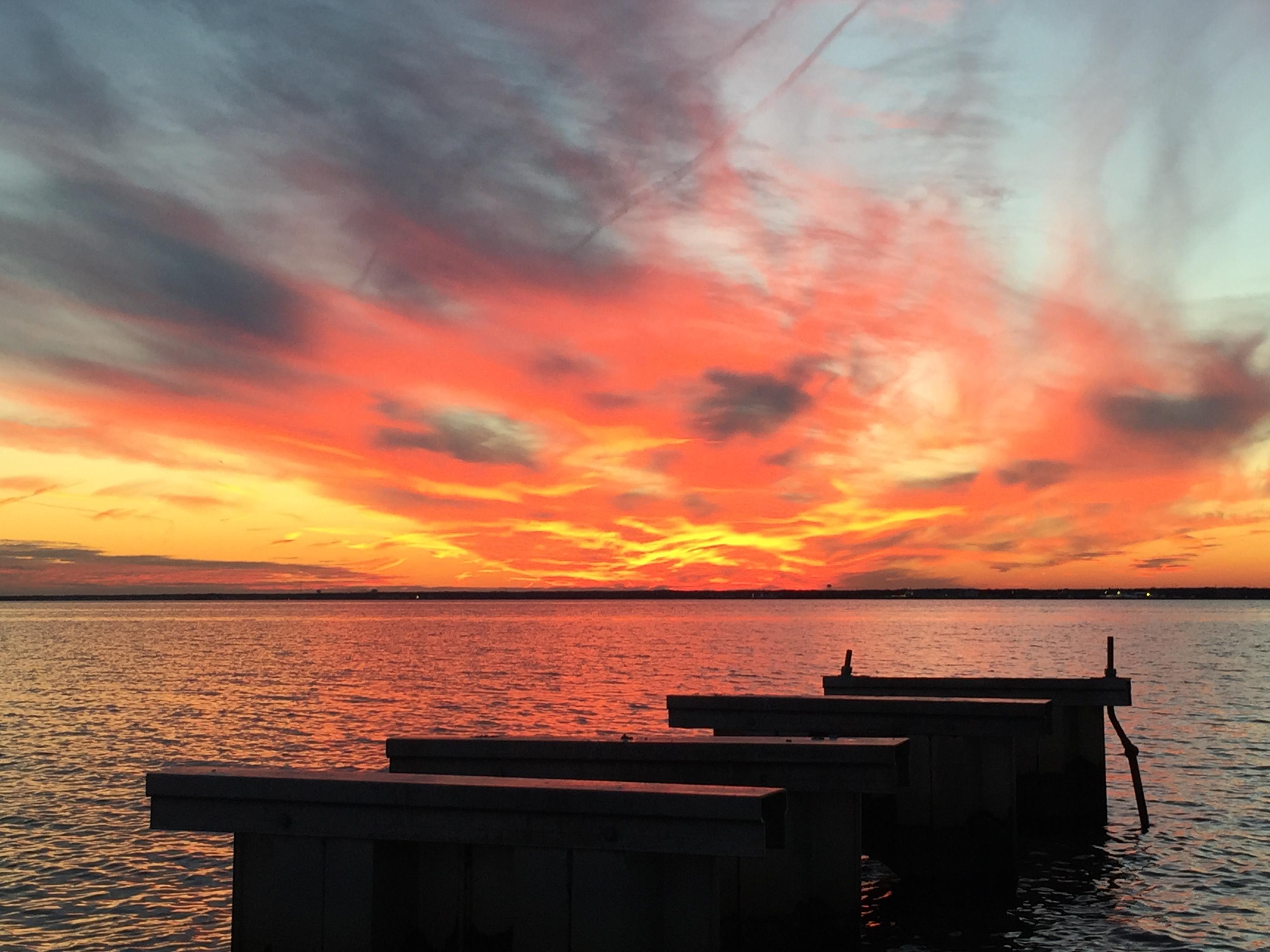 Sunset over Barnegat Bay, Dec. 29, 2014. (Photo: Daniel Nee)
