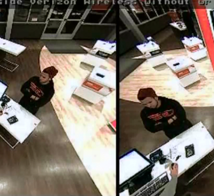 A suspect accused of passing counterfeit $100 bills at a Brick Verizon store. (Photo: Brick Twp. Police)