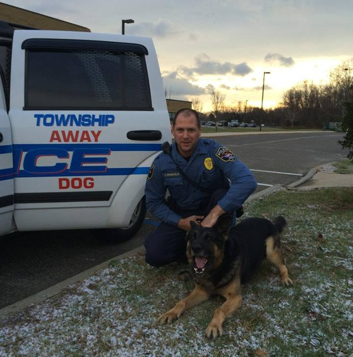 Ptl. Keith Prendeville and K9 Max (Photo: Ocean County Prosecutor's Office)