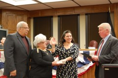 Councilwoman Heather deJong is sworn in as council vice president. (Photo: Daniel Nee)