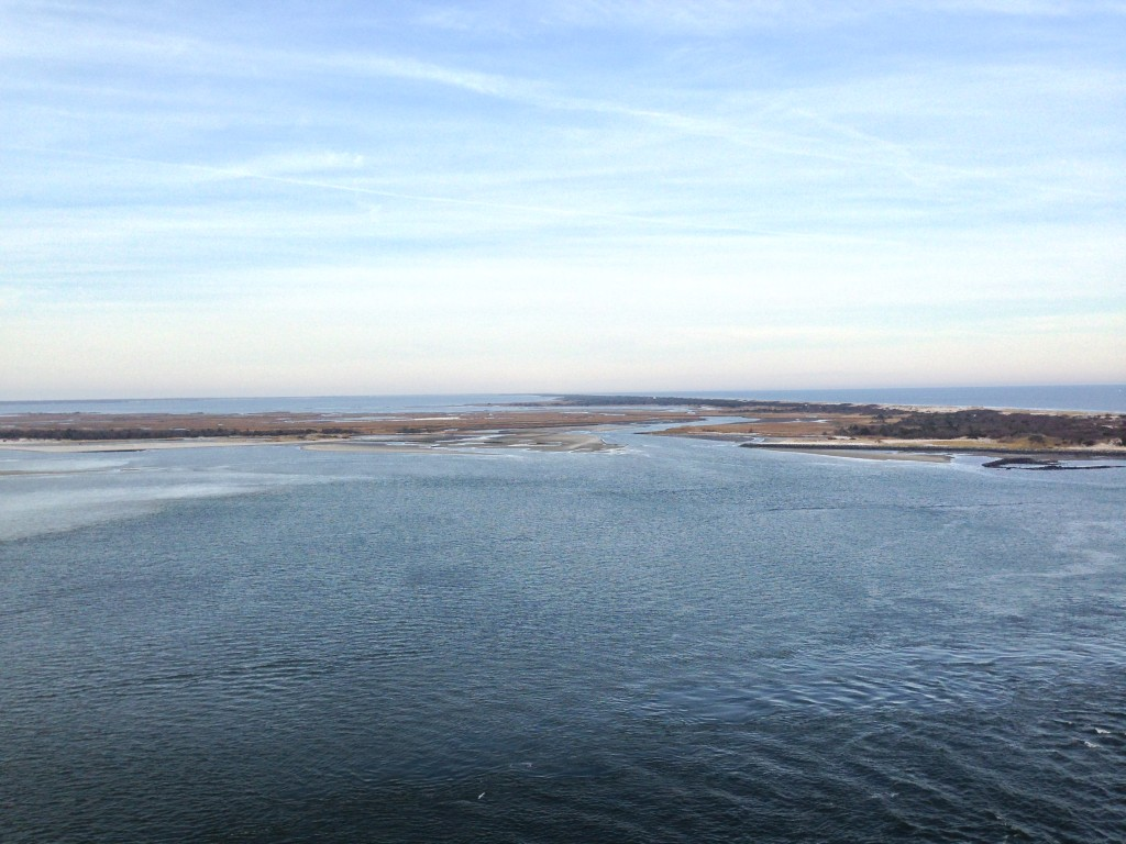 Barnegat Bay and the Atlantic Ocean from the top of Barnegat Lighthouse. (Photo: Daniel Nee)