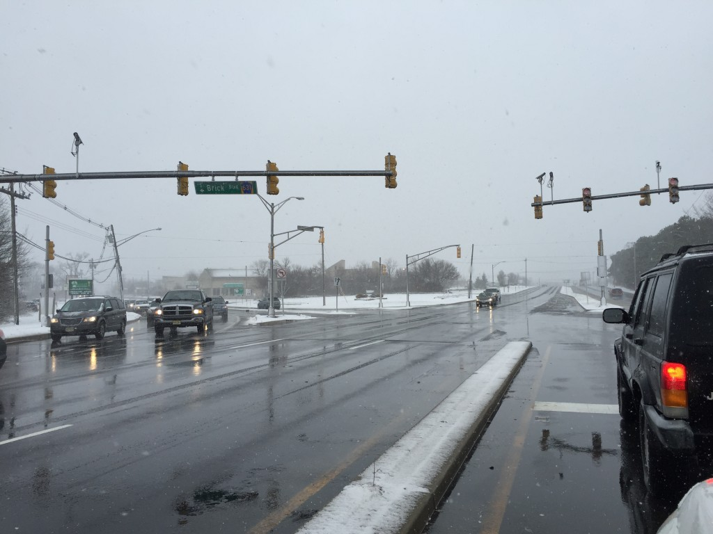 The intersection of Route 70 and Brick Boulevard, just after 12 noon, Monday, Jan. 26, 2015. (Photo: Daniel Nee)