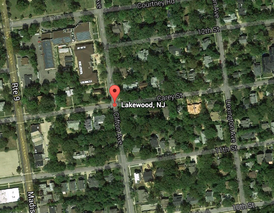 Clifton Ave. and Carey Street, Lakewood, N.J. (Credit: Google Maps)