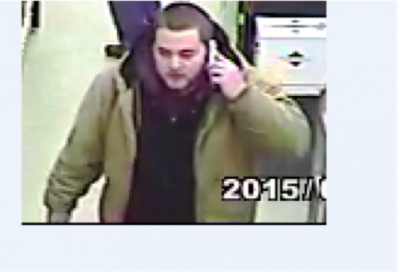A man suspected of taking items from a Brick liquor store Jan. 1, 2015. (Photo: Brick Twp. Police)