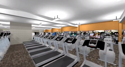 A rendering of the interior of Meridian Fitness and Wellness in Brick.