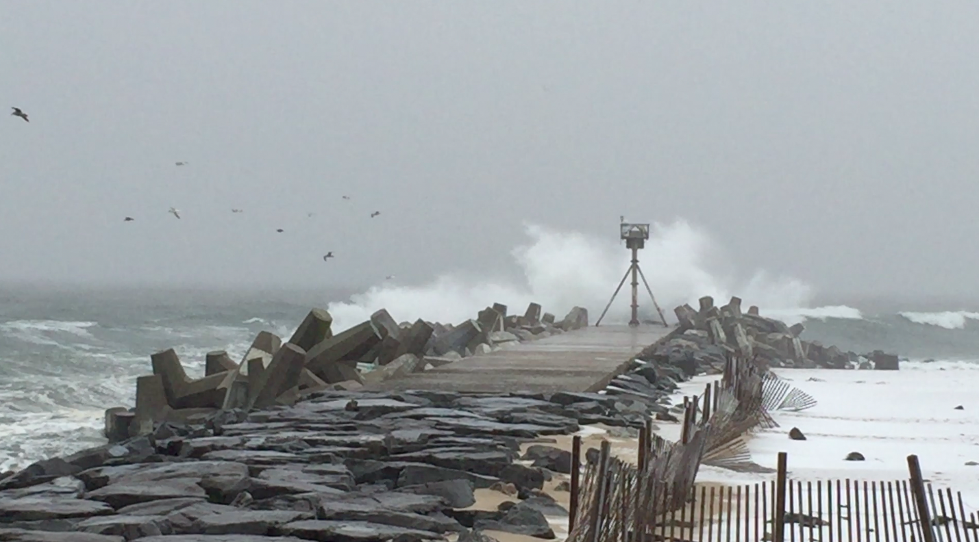 Waves at Manasquan Inlet, Jan. 26, 2015