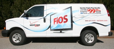 A Verizon FiOS Truck. (Credit: B2B Media)