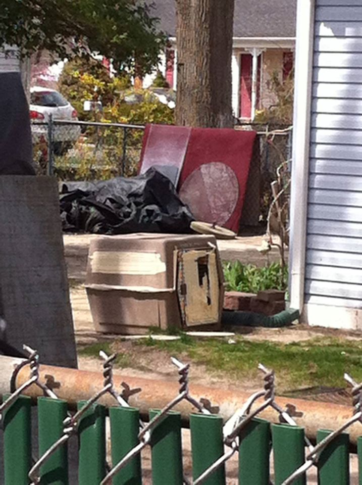 A dog crate that was allegedly used by a Toms River man to euthanize his dog. (Credit: Justice for Mocha/Facebook)