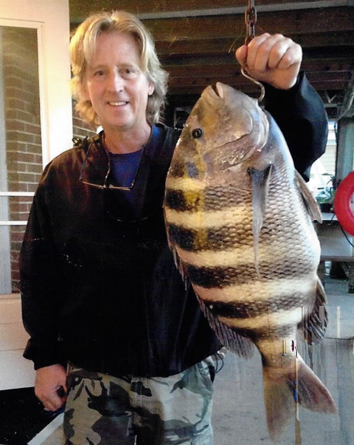A new state record sheepshead caught in Longport. (Photo: DEP)